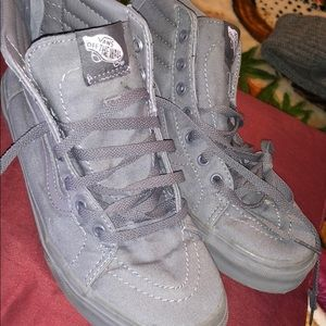 Vans dark gray shoes, size 6y